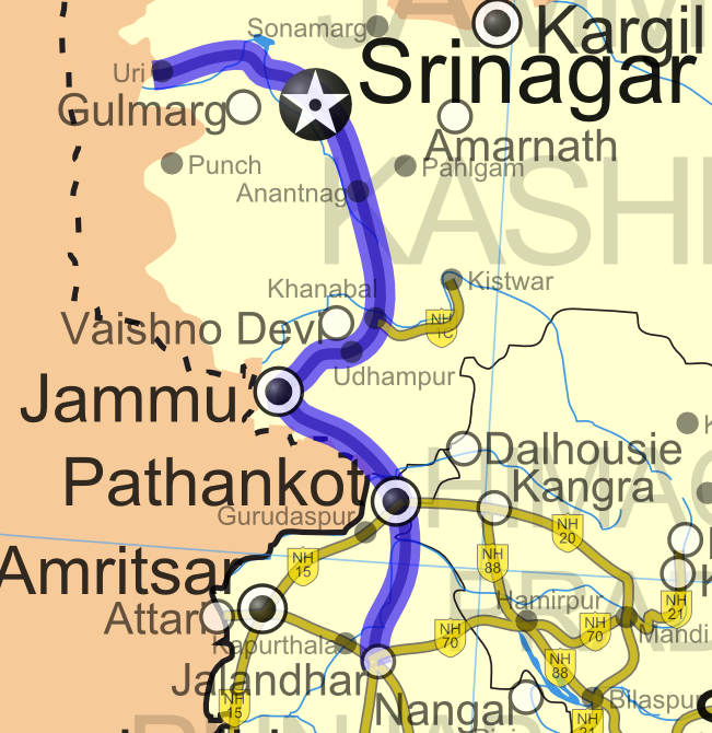 National Highway 1A (India)
