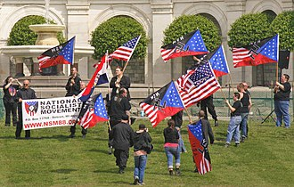 National Socialist Movement (United States) - The NSM rally on the West lawn of the U.S. Capitol, Washington, D.C., 2008