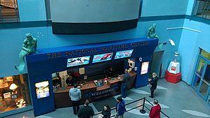 Nauticus - Reception desk inside Nauticus