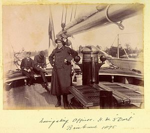 Navigating officer on HMS Dart Brisbane 1895.jpg