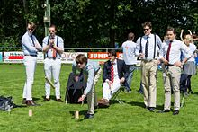 image about Kubb Rules Printable known as Kubb - Wikipedia