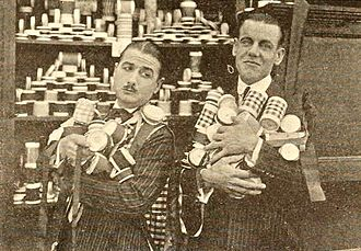 "Neely Edwards - Neely Edwards (right) and Edward Flanagan in a ""Hall Room Boys"" comedy short"
