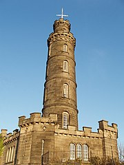 Nelson's Monument on top of Calton Hill