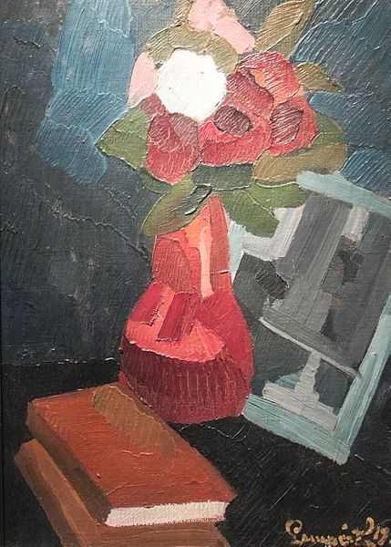 File:Nemes-Lampérth - Still-life of flowers with books.jpg