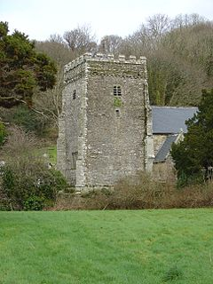 Nevern village in Wales