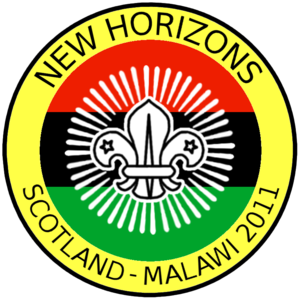 The Scout Association of Malawi - New Horizons Scotland - Malawi 2011 expedition badge