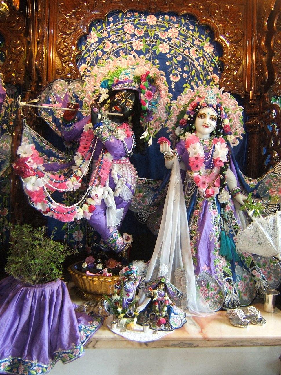 New Mayapur Radha Krishna murtis