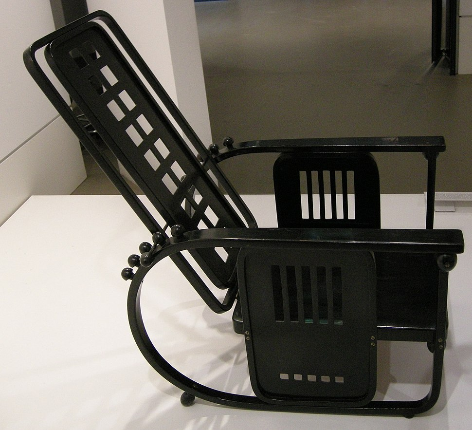Ngv design, josef hoffmann, adjustable-back chair (stitzmachine) 1905 circa 01