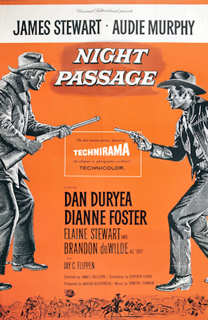 Night Passage (film) - 1957 theatrical poster by Reynold Brown