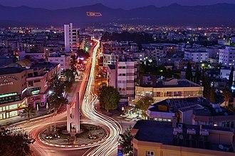North Nicosia - Yenişehir quarter at night