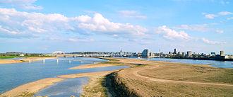Nijmegen - Nijmegen city view from the north west