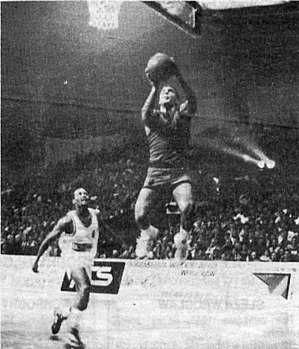 Nikos Galis - Nikos Galis during a basketball game in October 1991.