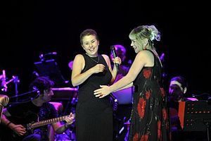 Sezen Aksu - Nilüfer and Sezen Aksu in a concert in Cemil Topuzlu Open-Air Theatre, 2012