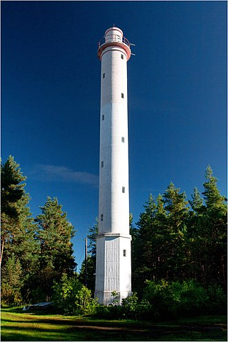 Lääne County - Image: Norrby ülemine tuletorn 2011