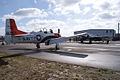 North American T-28B Trojan Navy to Beech C-45G Latitude Dancer TICO 13March2010 (14576481826).jpg