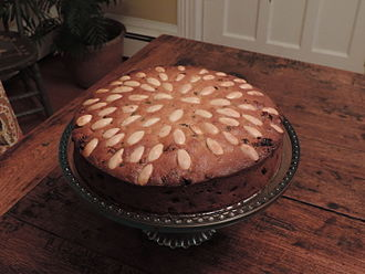 Dundee cake - Image: North British Dundee cake