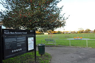 North Sheen - North Sheen Recreation Ground, now in Kew, viewed from Dancer Road
