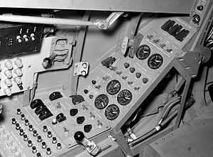 Northrop HL-10 - Cockpit of the HL-10 lifting body.