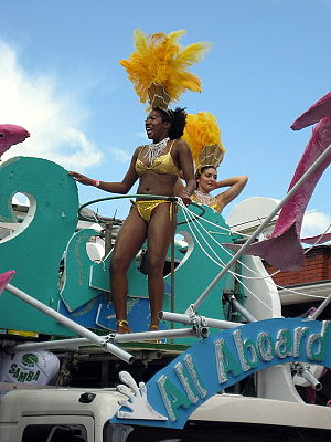 All Caribbean Men Dress Up As Women:  Carnival in Martinique