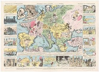Albert Robida - Nouvelle carte d'Europe