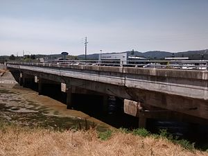 Novato Creek - The Redwood Boulevard bridge over Novato Creek