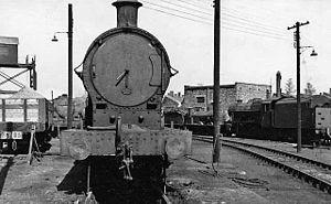 Nuneaton railway station - The loco yard at Nuneaton Depot in 1953