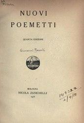 Giovanni Pascoli: Nuovi poemetti