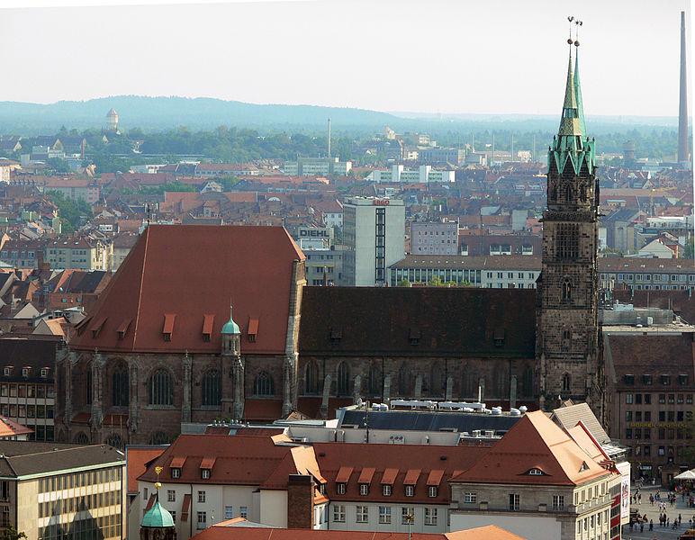 File:Nuremberg - St Sebald church from the castle.JPG