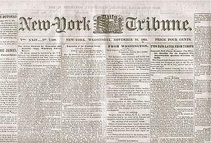 1864 New York Tribune Newspaper