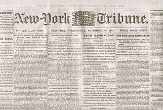 History of American newspapers - The Tribune spoke for the Republican party in 1864