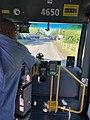 OC Transpo Bus waiting in construction in Carlsbad Springs.jpg