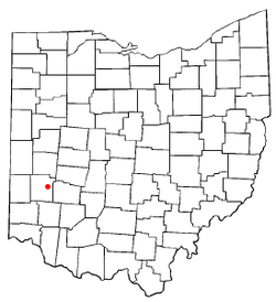 Location of Dayton, Ohio