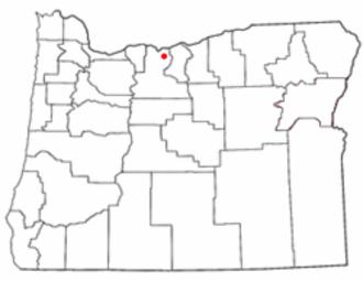 Boyd, Oregon - Image: OR Map doton Boyd