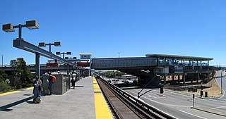 Rapid transit and railway station in San Francisco Bay Area