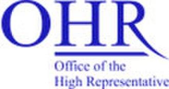 High Representative for Bosnia and Herzegovina - Image: Ohr logo 2 a