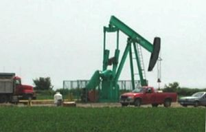 Oil reserves - An oil well in Canada, which has the world's third largest oil reserves.