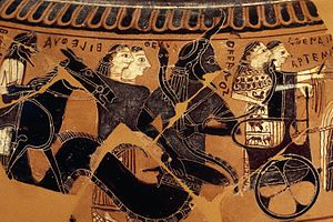 Oceanus - Oceanus attending the Wedding of Peleus and Thetis on an Athenian, black-figure Dinos by Sophilos, c. 590 BC (British Museum)