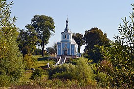 Okhlopiv Horokhivskyi Volynska-Saint Nicholas church-west view-1.jpg