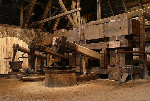Althammer in der Saigerhütte Grünthal im Erzgebirge (UNESCO-Weltkulturerbe Montanregion Erzgebirge)