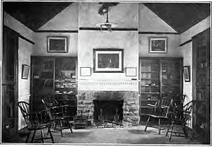 Old Eagle School - Interior of Old Eagle School as it appeared circa 1909