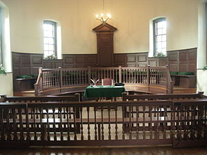 Old Isle of Wight Courthouse - Recreated interior, seen in 2011