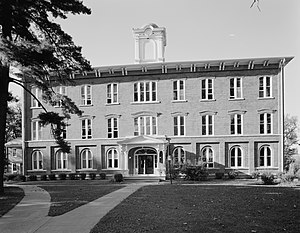 "Iowa Wesleyan University - ""Old Main"" on the Iowa Wesleyan campus"