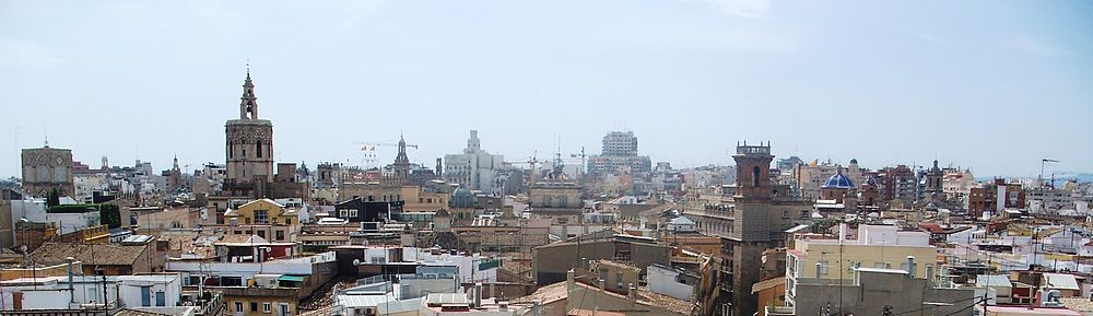 Old city of Valencia Skyline from Serrans Towers.JPG