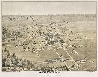 McKinney, Texas - Map from 1876