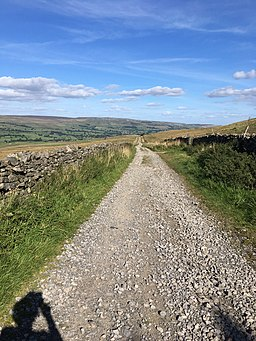 Old roman road, now bridle path, towards Bainbridge, Yorkshire