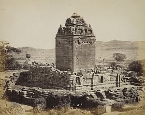 Gop Temple - View of the temple from north-west, 1874