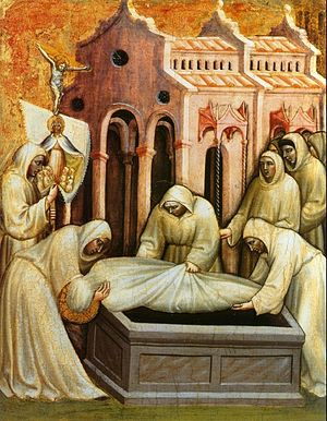 Olivuccio di Ciccarello - Works of Mercy (To bury the dead), Vatican Museums.