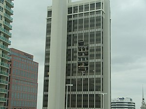 One Financial Plaza (Fort Lauderdale) - One Financial Plaza, October 2005, after Wilma