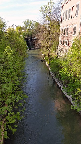 Syracuse, New York - Onondaga Creek as it flows near Armory Square