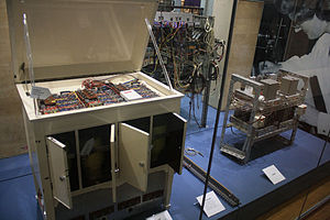Oramics Machine - Sound Generator using CRT scanners, Valve amplifier, and rear side of Main unit.jpg